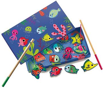 Juego magnético de pesca de colores - DJeco-0