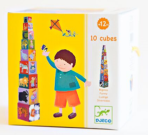 10 divertidos cubos para apilar - Djeco-0