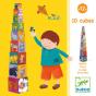 10 divertidos cubos para apilar - Djeco-8473