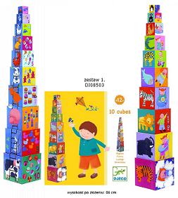 10 divertidos cubos para apilar - Djeco-8472