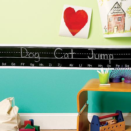 Pizarra Chalkboard borde de alfabeto -Peel and stick Wallies-0