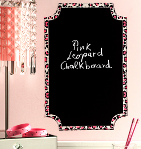 Pizarra Chalkboard rosa leopardo -Peel and stick Wallies-0