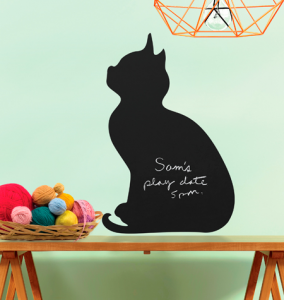 Pizarra Chalkboard gatito-Peel and stick Wallies-0