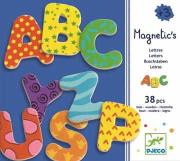 Letras magnéticas grandes (38 letras) - Djeco-0