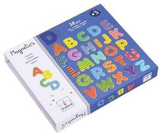Letras magnéticas grandes (38 letras) - Djeco-8602
