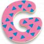 Letras magnéticas grandes (38 letras) - Djeco-8605