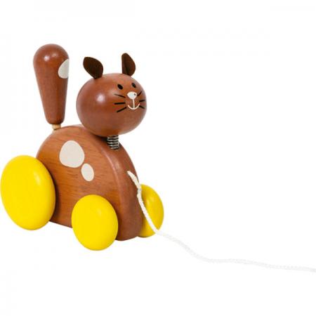 Mascota de Jalar Gato de madera Voila-0