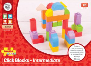 Juego de Construccion - Click Blocks Intermedio 40pcs BIGJIGS-0