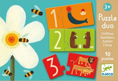 Rompecabeza dúo de números (10piezas) - Djeco-0