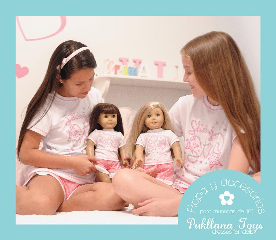 a5b604c73f Pijama para niña y muñeca de 18