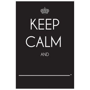 Pizarra Chalkboard negro keep calm and - Peel and stick Wallies-0