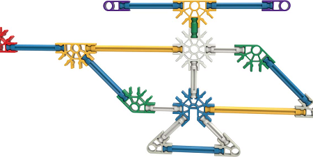 Set de construcción con 10 modelos - KNEX-7946