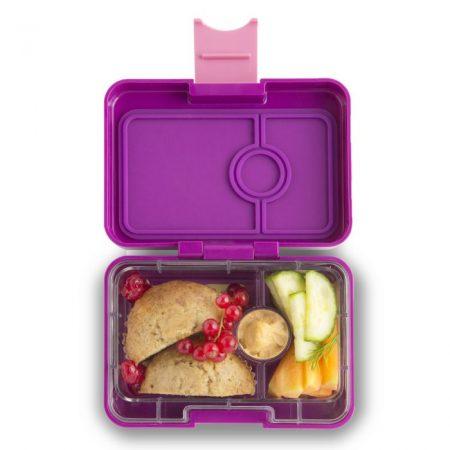 Lonchera mini snack Bijoux Purple de 3 divisiones – Yumbox