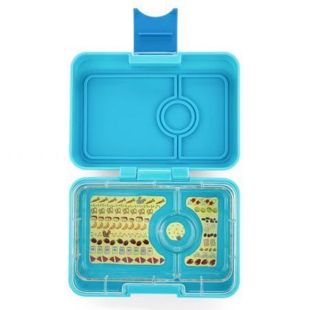 Lonchera mini snack Blue Fish de 3 divisiones – Yumbox