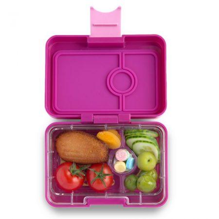 Lonchera mini snack Malibu Purple de 3 divisiones – Yumbox