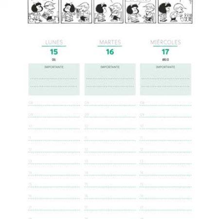 Agenda Mafalda 2020 anillada (Azul)
