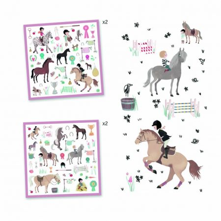 Pack de Stickers – Caballos – DJECO
