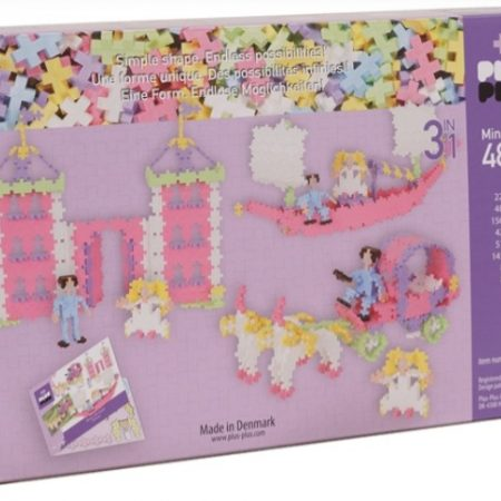 Princesas Color Pastel 3 en 1 (480 piezas) – Plus-Plus